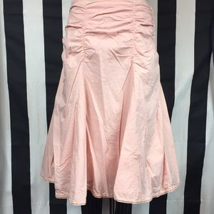 Charlotte Russe ruched skirt pale peach/pink sz 11